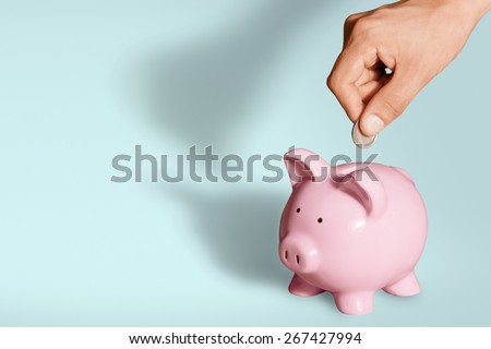Piggy Bank, Pension, Savings. - stock photo