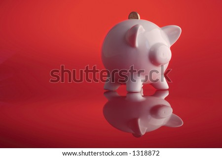 piggy bank saving - stock photo