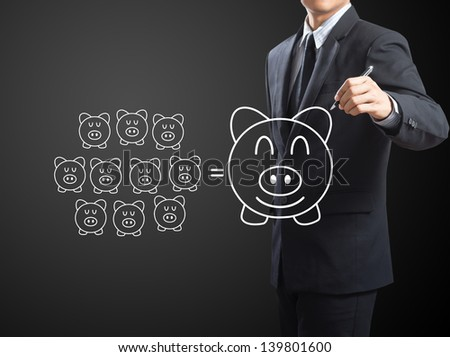 Piggy Bank, Saving concept - stock photo