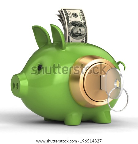 piggy bank with lock