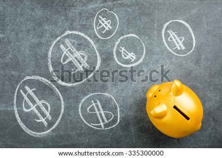 piggy banks for deposit your money with white background. - stock photo