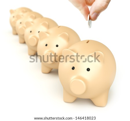 Piggy Banks in Line