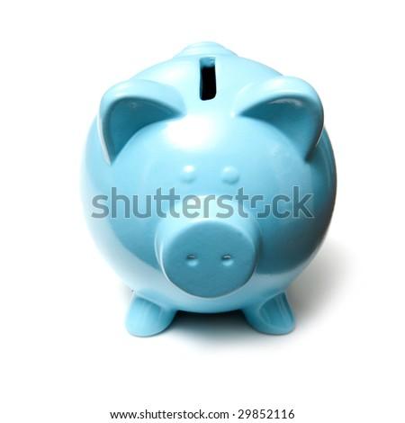 piggy banks style money box isolated on a white studio background. - stock photo