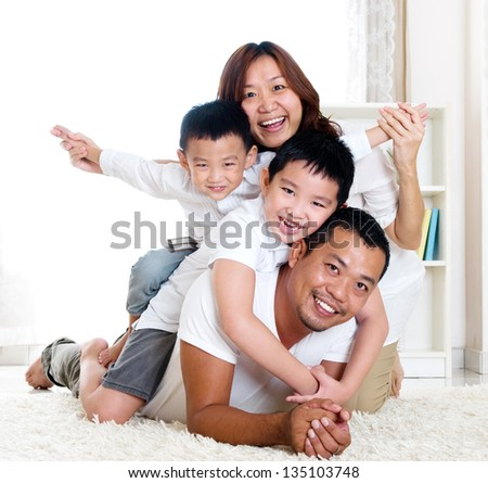 piggyback fun - stock photo