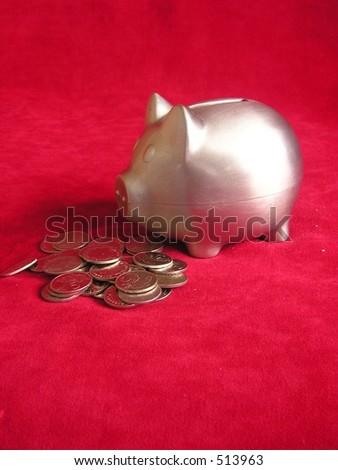 Piggybank(vertical) - stock photo