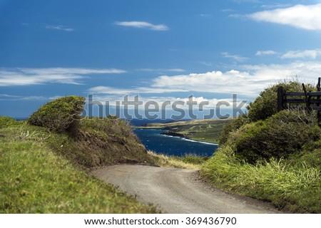 Piilani Highway, Maui, Hawaii -4 - stock photo