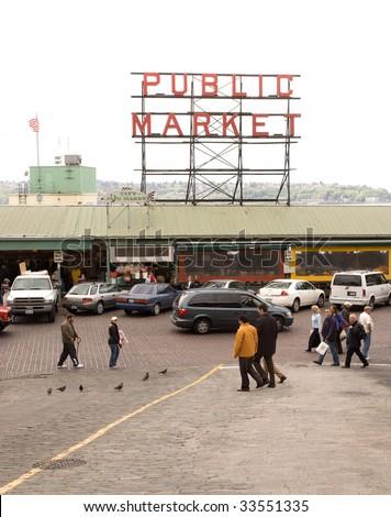 Pike Place Market - stock photo