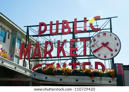 Pike Place Market, Seattle WA, August 2012