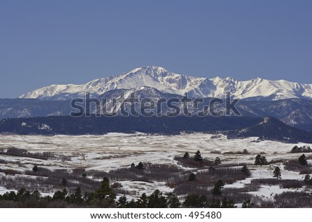 Pikes Peak - stock photo