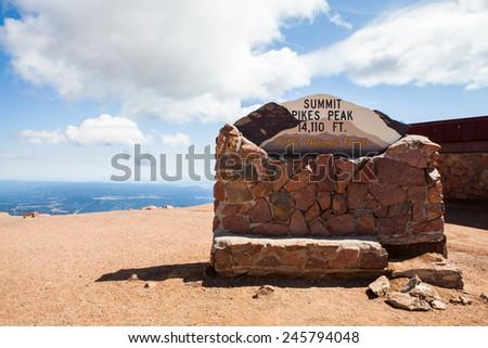 Pikes Peak Colorado - stock photo