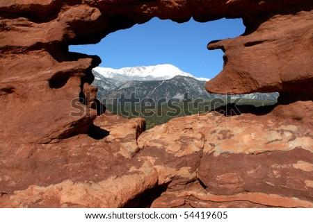 Pikes peak view - stock photo