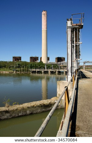 Pila (Ro),Veneto,Italy,Po River Delta,the thermoelectric Central inoperative