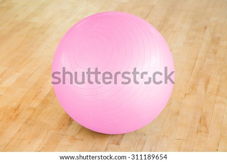 Pilates ball - stock photo