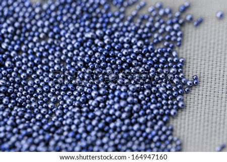 Pile blue balls of bead suitable for Background and texture - stock photo
