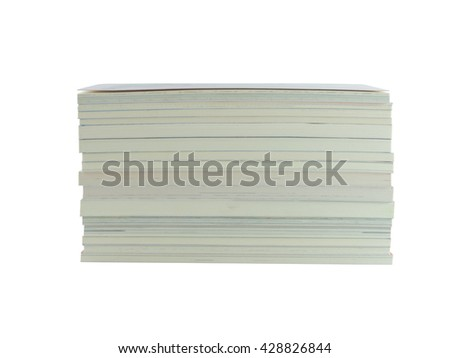 pile book with isolate white background