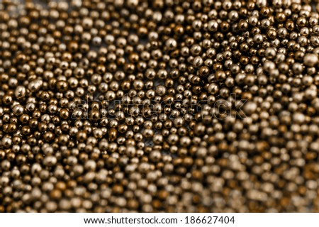 Pile brown balls of bead suitable for Background and texture - stock photo