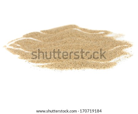 pile desert sand isolated on white  - stock photo