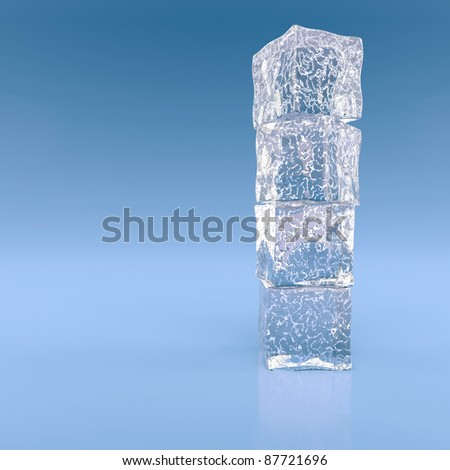 Pile from the blocks of ice - stock photo