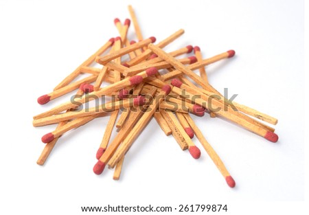 pile more matches - stock photo