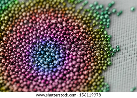 Pile multicolored balls of bead suitable for Background and texture