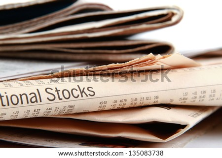 Pile of a newspapers