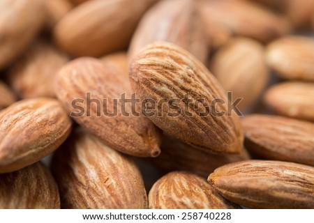 pile of almonds - stock photo