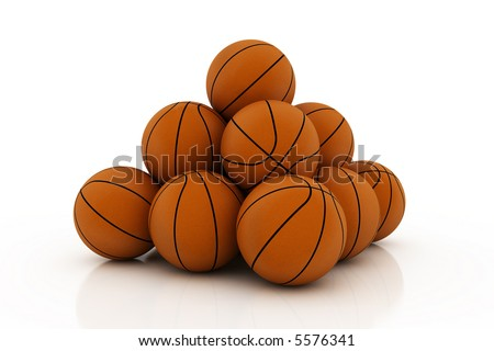 pile of balls - stock photo