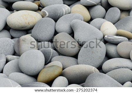 Pile of beach pebbles  - stock photo