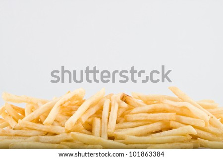 Pile  of big potato french fries