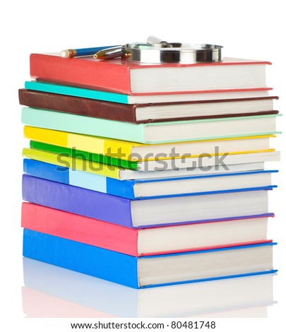 pile of book isolated on white background