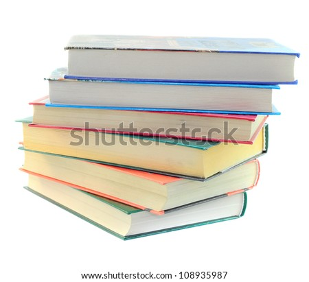 pile of books - isolated on white background