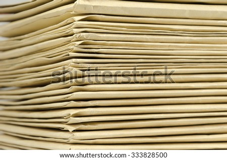 Pile of brown envelopes