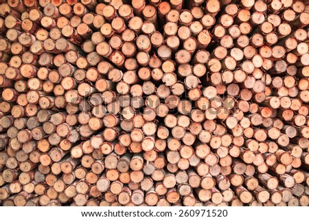 Pile of brown wood - stock photo