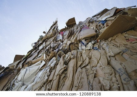Pile of cardboard boxes - stock photo