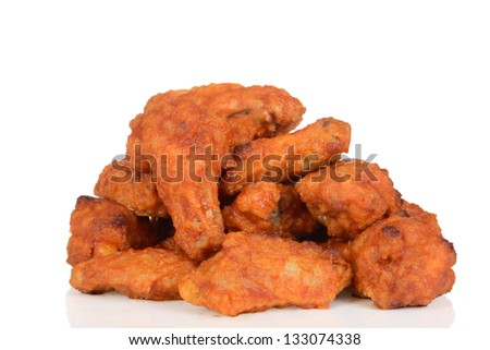 Pile of chicken wings - stock photo