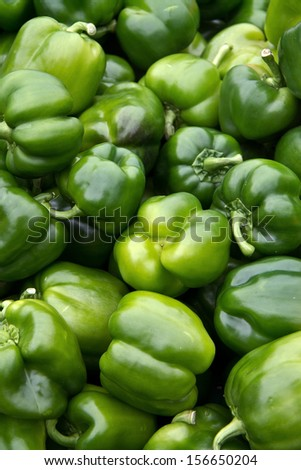 Pile of chili peppers horizontal - stock photo
