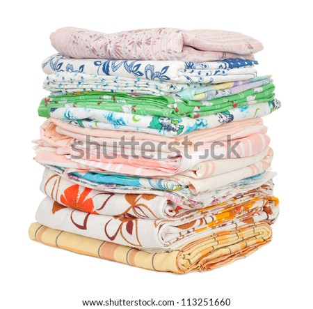 Pile of clothes - stock photo