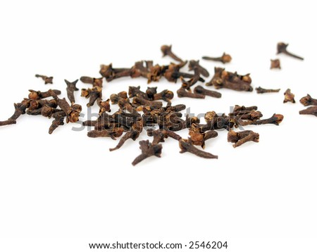 Pile of clove On pure white background