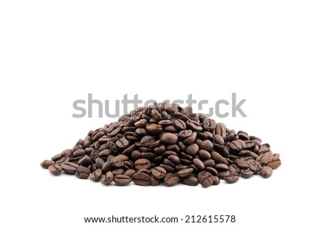 Pile of coffee beans - stock photo