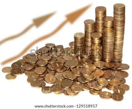 Pile of coins and Coin pyramid
