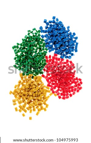 Pile of colorful plastic polymer