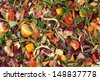 Pile of composting natural waste - stock photo
