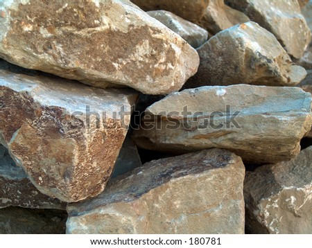 Pile of construction rocks - stock photo
