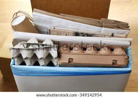Pile of different waste, close-up. Waste sorting concept. - stock photo