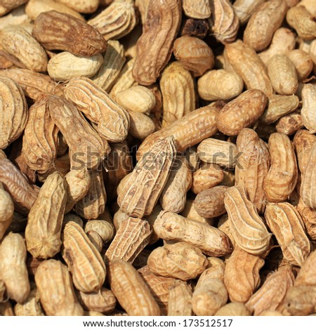 Pile of Dried peanuts as background