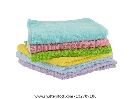 Pile of  face cloths - stock photo