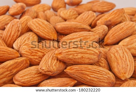 pile of fresh almonds