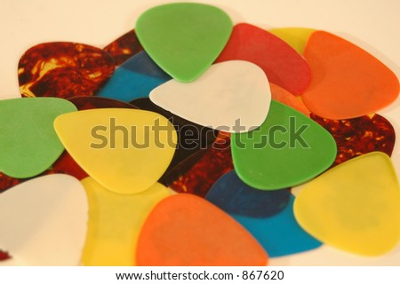 Pile of guitar picks.