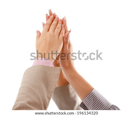 Pile of hands - stock photo