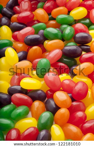 Pile of jelly beans for background image.